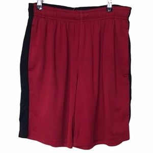 NIKE BASKETBALL FLY SHORTS DRI FIT ATHLETIC RED